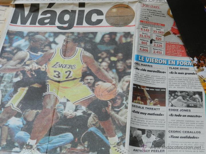 Coleccionismo deportivo: LOTE RECORTES DE MAGIC Earvin JOHNSON Angeles Lakers NBA - Foto 5 - 42540984