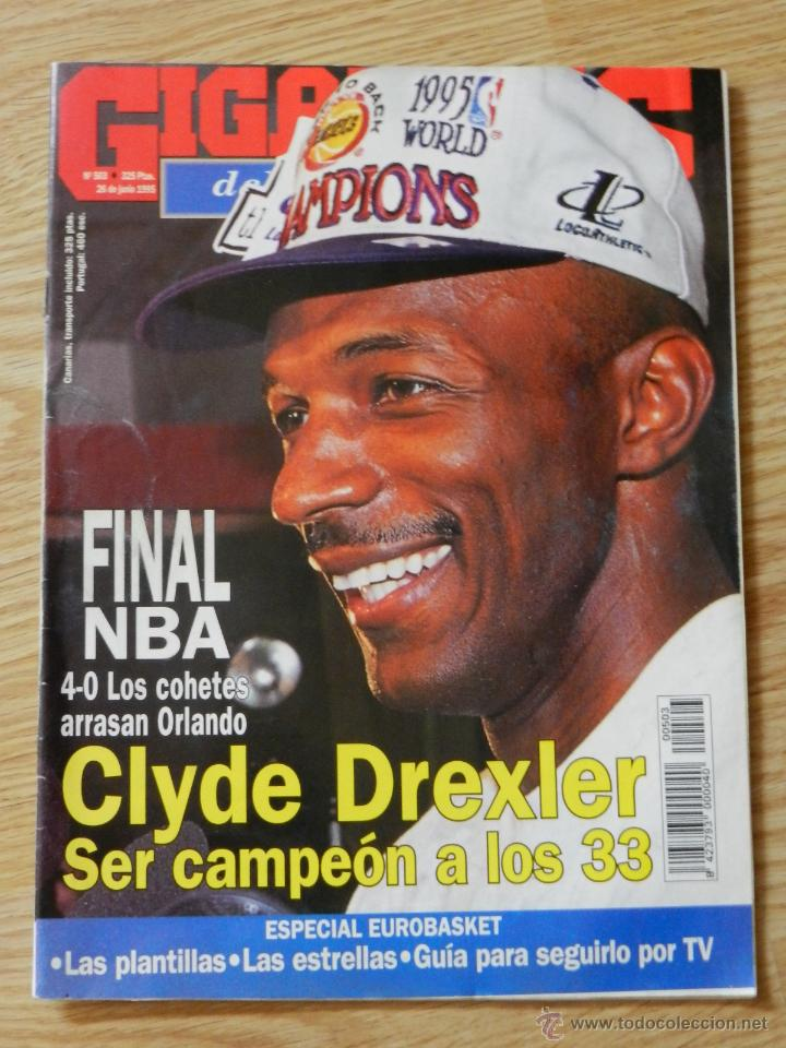 GIGANTES DEL SUPERBASQUET Nº 503 AÑO 1995 CLYDE DREXLER CAMPEÓN A LOS 33 (Coleccionismo Deportivo - Revistas y Periódicos - otros Deportes)