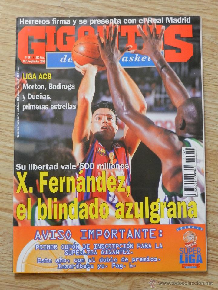 GIGANTES DEL SUPERBASQUET Nº 567 AÑO 1996 FERNÁNDEZ EL BLINDADO AZULGRANA (Coleccionismo Deportivo - Revistas y Periódicos - otros Deportes)