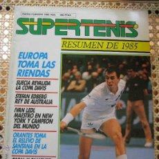 Coleccionismo deportivo: REVISTA SUPERTENIS ENERO-FEBRERO 1986 Nº28 LENDL WILANDER BECKER CASAL SANCHEZ VICARIO ATP RANKING. Lote 44435439