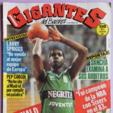 Coleccionismo deportivo: REVISTA GIGANTES DEL BASKET Nº 46-1986-POSTER REGINALD JOHNSON JOVENTUT-PEP CARGOL-LARRY SPRINGS. Lote 44465448