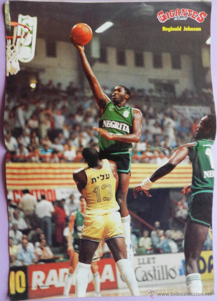 Coleccionismo deportivo: REVISTA GIGANTES DEL BASKET Nº 46-1986-POSTER REGINALD JOHNSON JOVENTUT-PEP CARGOL-LARRY SPRINGS - Foto 2 - 44465448
