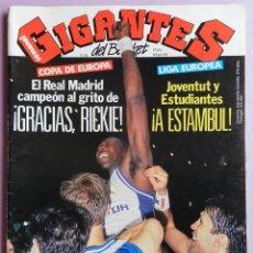 Coleccionismo deportivo: REVISTA GIGANTES DEL BASKET Nº 334-1992-REAL MADRID CAMPEON COPA EUROPA BALONCESTO 90/91-JOVENTUT. Lote 44466105