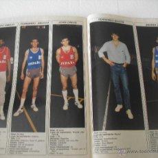 Coleccionismo deportivo: SELECCIÓN ESPAÑOLA DE BALONCESTO, 5 PÁG FERNANDO MARTÍN,ROMAY,EPI,...RECORTE DE PRENSA DE 1986. Lote 44643850