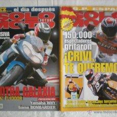 Coleccionismo deportivo: LOTE # 2 REVISTAS SOLO MOTO ACTUAL # 1144, 1195. Lote 44658589