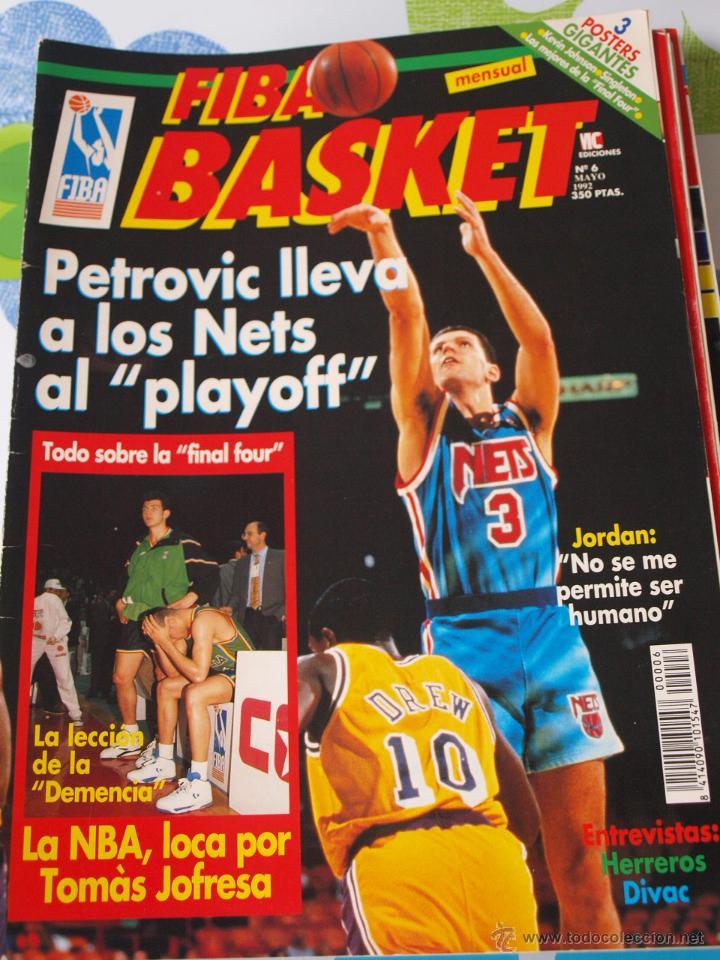 REVISTA BALONCESTO FIBA BASKET 6 DRAZEN PETROVIC NETS FINAL FOUR 1992 (Coleccionismo Deportivo - Revistas y Periódicos - otros Deportes)