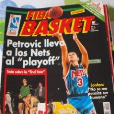 Coleccionismo deportivo: REVISTA BALONCESTO FIBA BASKET 6 DRAZEN PETROVIC NETS FINAL FOUR 1992. Lote 44815118