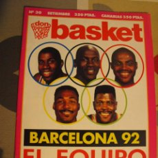 Coleccionismo deportivo: REVISTA BALONCESTO NBA DON BASKET 30 AÑO 1991 BARCELONA 92 JORDAN MAGIC EWING BARKLEY MALONE. Lote 151907398