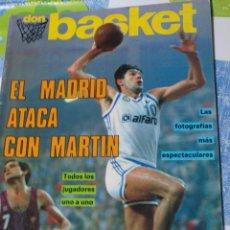 Coleccionismo deportivo: REVISTA BALONCESTO DON BASKET 14 EXTRA LIGA 87-88 FERNANDO MARTIN REAL MADRID SOLOZABAL. Lote 44828893