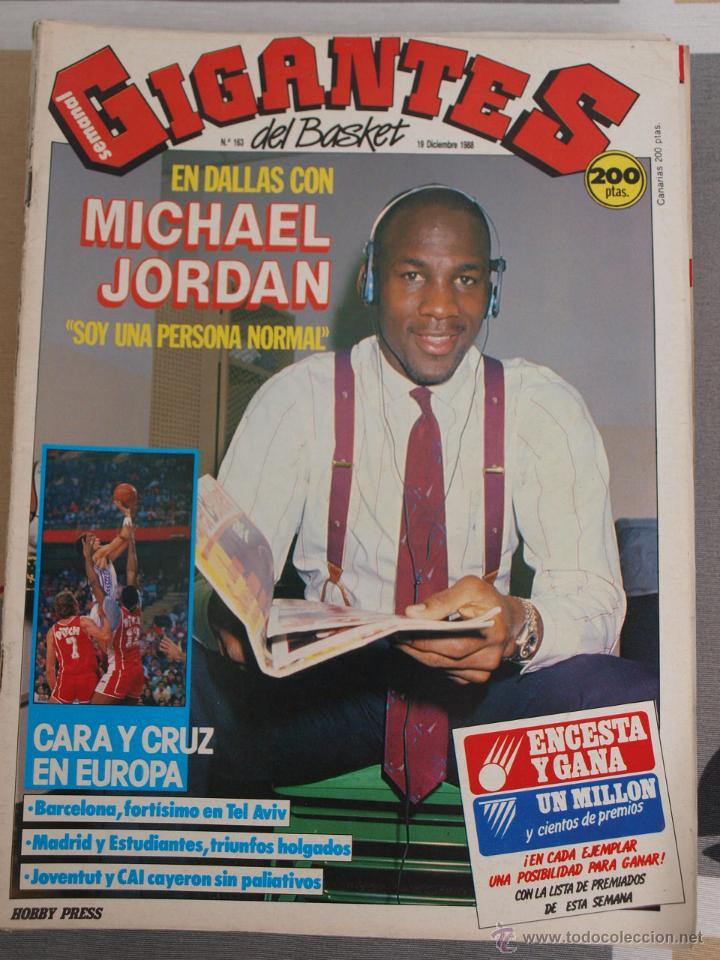 REVISTA BALONCESTO GIGANTES BASKET AÑO 1988 MICHAEL JORDAN (Coleccionismo Deportivo - Revistas y Periódicos - otros Deportes)