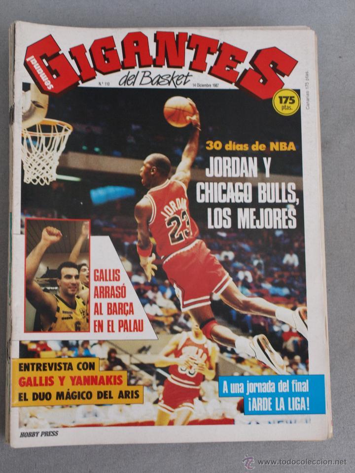 110 REVISTA BALONCESTO NBA GIGANTES BASKET 1987 MICHAEL JORDAN (Coleccionismo Deportivo - Revistas y Periódicos - otros Deportes)