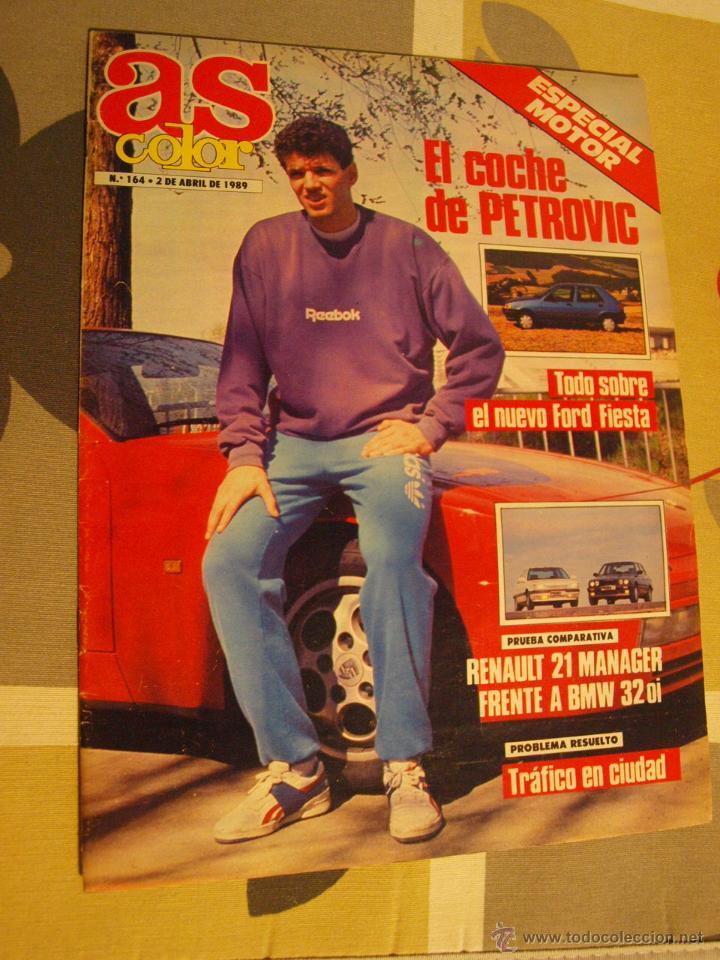 164 REVISTA BALONCESTO AS COLOR 1989 DRAZEN PETROVIC (Coleccionismo Deportivo - Revistas y Periódicos - otros Deportes)