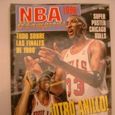 Coleccionismo deportivo: 9 REVISTA BALONCESTO NBA CHAMPIONS 1996 ESPECIAL CUARTO ANILLO MICHAEL JORDAN CHICAGO BULLS . Lote 44872355
