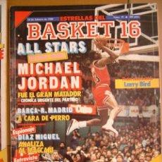 Coleccionismo deportivo: 19 REVISTA BALONCESTO NBA BASKET 16 AÑO 1988 ALL STAR CHICAGO MICHAEL JORDAN POSTER LARRY BIRD. Lote 44900315