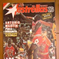 Coleccionismo deportivo: 3 REVISTA BALONCESTO NBA ESTRELLAS BASKET 16 1987 MICHAEL JORDAN KAREEM JABBAR. Lote 44900869
