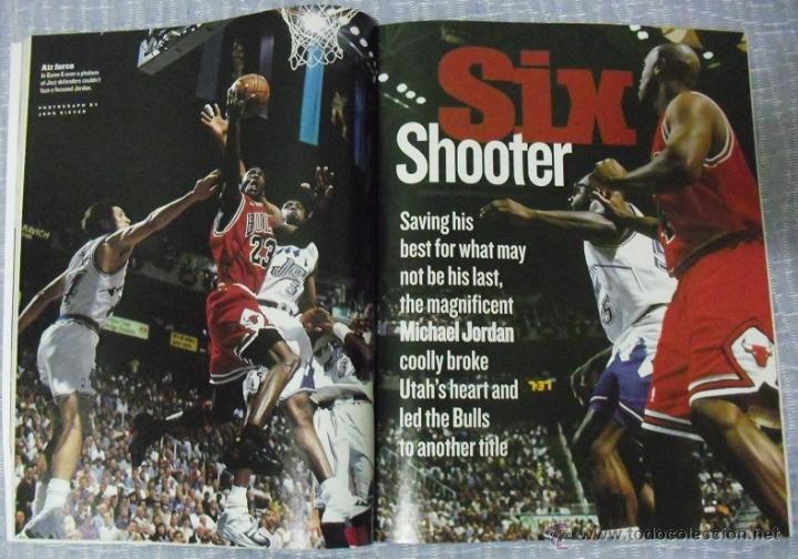 Coleccionismo deportivo: Michael Jordan - Revista ''Sports Illustrated'' (1998) - sexto anillo - NBA - Foto 2 - 45220223