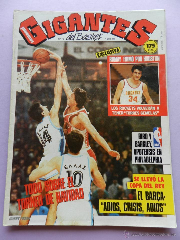 REVISTA GIGANTES DEL BASKET Nº 113-1988 TORNEO NAVIDAD REAL MADRID-ROMAY-NBA USA THOMPSON JJOO SEUL (Coleccionismo Deportivo - Revistas y Periódicos - otros Deportes)