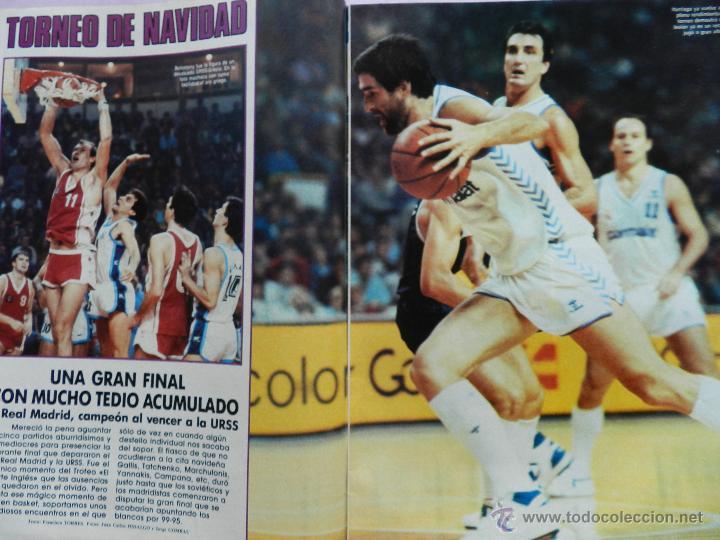 Coleccionismo deportivo: REVISTA GIGANTES DEL BASKET Nº 113-1988 TORNEO NAVIDAD REAL MADRID-ROMAY-NBA USA THOMPSON JJOO SEUL - Foto 2 - 45328398