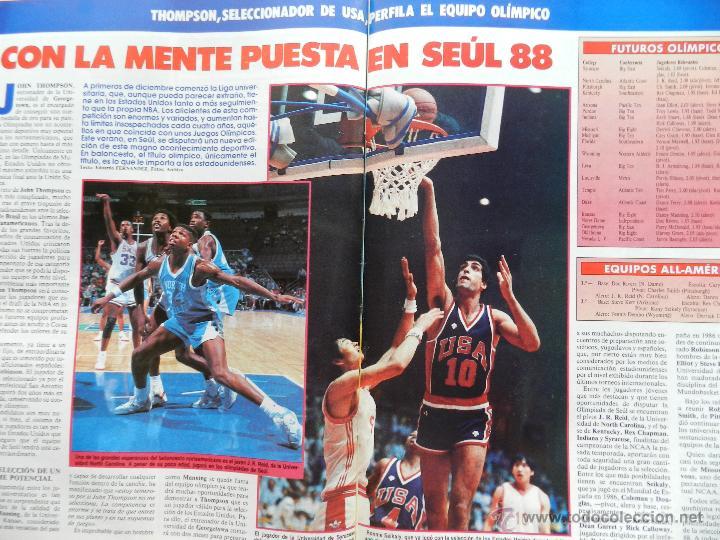 Coleccionismo deportivo: REVISTA GIGANTES DEL BASKET Nº 113-1988 TORNEO NAVIDAD REAL MADRID-ROMAY-NBA USA THOMPSON JJOO SEUL - Foto 4 - 45328398