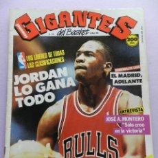 Coleccionismo deportivo: REVISTA GIGANTES DEL BASKET Nº 132-1988 MICHAEL JORDAN BULLS NBA-MONTERO JOVENTUT-POSTER VILLACAMPA. Lote 45328452