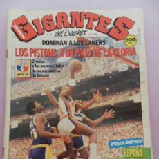 Coleccionismo deportivo: REVISTA GIGANTES DEL BASKET Nº 138-1988 SELECCIÓN ESPAÑOLA-POSTER EPI-FINAL NBA PISTONS LAKERS. Lote 45379436