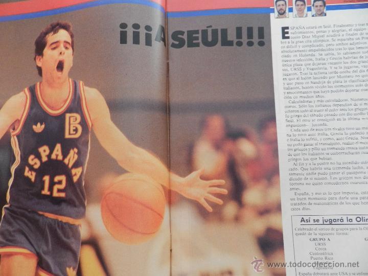 Coleccionismo deportivo: REVISTA GIGANTES DEL BASKET Nº 141-1988 SELECCIÓN ESPAÑOLA JJOO SEUL-POSTER NBA THOMPSON-OAKLEY - Foto 2 - 45379475