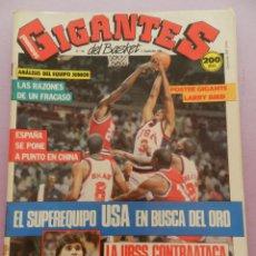 Coleccionismo deportivo: REVISTA GIGANTES DEL BASKET Nº 149-1988 EUROPEO JUNIOR-POSTER LARRY BIRD CELTICS NBA-SABONIS-USA. Lote 45429151