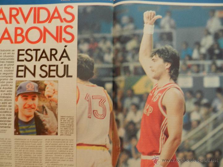 Coleccionismo deportivo: REVISTA GIGANTES DEL BASKET Nº 149-1988 EUROPEO JUNIOR-POSTER LARRY BIRD CELTICS NBA-SABONIS-USA - Foto 6 - 45429151