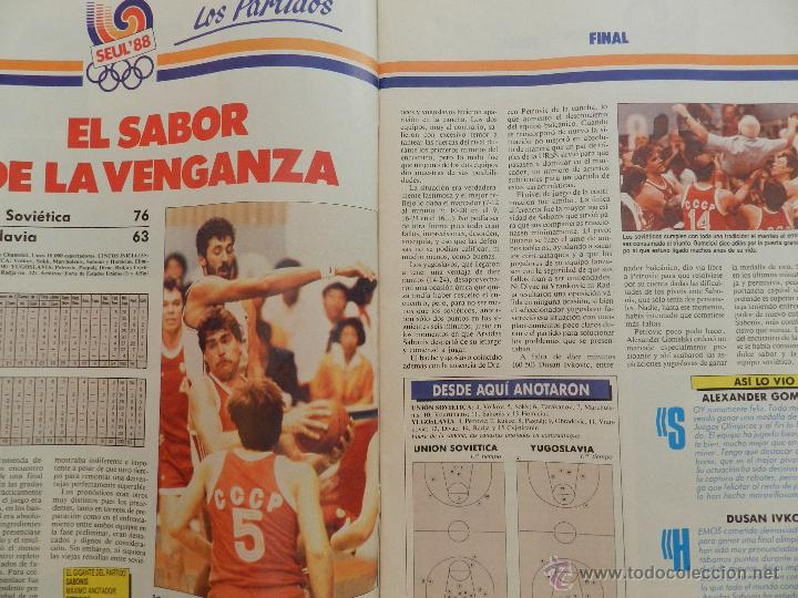 Coleccionismo deportivo: REVISTA GIGANTES DEL BASKET Nº 153-1988 JJOO SEUL 88 URSS CAMPEON-POSTER MARGALL-SELECCIÓN ESPAÑOLA - Foto 5 - 45429178