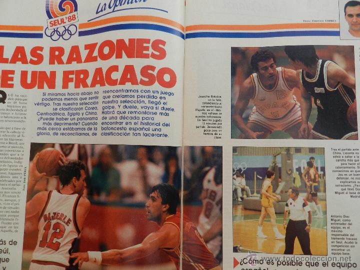 Coleccionismo deportivo: REVISTA GIGANTES DEL BASKET Nº 153-1988 JJOO SEUL 88 URSS CAMPEON-POSTER MARGALL-SELECCIÓN ESPAÑOLA - Foto 6 - 45429178