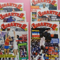 Coleccionismo deportivo: LOTE 6 REVISTA GIGANTES DEL BASKET 1987 - Nº 87-88-89-90-91-92 - NBA-GLOBETROTTERS-NORRIS-ROMAY. Lote 45429397