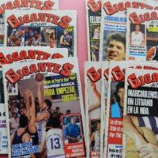 Coleccionismo deportivo: LOTE 10 REVISTA GIGANTES DEL BASKET 1989 Nº 193-196-198-199-200-202-203-204-205-207 POSTER. Lote 45433156