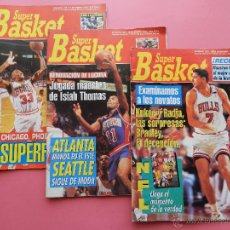 Coleccionismo deportivo: LOTE 3 REVISTA SUPER BASKET 93/94 Nº 159-203-207 NBA - NFL POSTER KINGS MAGIC HARDAWAY-ISIAH THOMAS. Lote 45433208