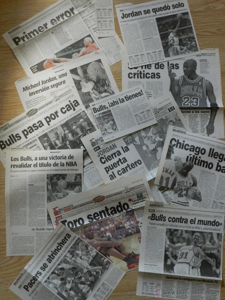LOTE 13 RECORTES DE PERIODICOS SOBRE MICHAEL AIR JORDAN BULLS CHICAGO 1998 PRENSA PERIODICO RECORTE (Coleccionismo Deportivo - Revistas y Periódicos - otros Deportes)
