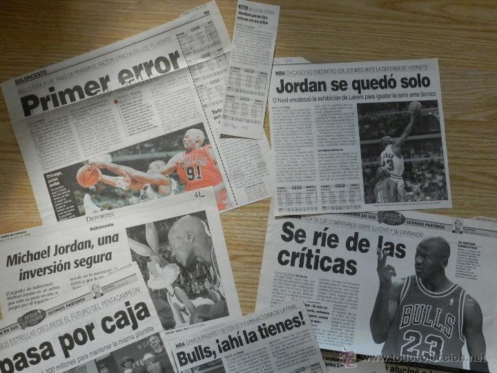 Coleccionismo deportivo: Lote 13 recortes de periodicos sobre MICHAEL AIR JORDAN Bulls chicago 1998 prensa periodico recorte - Foto 2 - 45482247