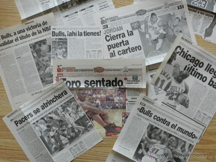 Coleccionismo deportivo: Lote 13 recortes de periodicos sobre MICHAEL AIR JORDAN Bulls chicago 1998 prensa periodico recorte - Foto 3 - 45482247