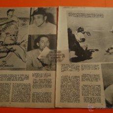 Coleccionismo deportivo: ARTICULO 1954 - BEISBOL TED WILLIAMS, MATHEWS, STANKY, RASCHI, NEWCOMBE-BOXEO BATTALINO - 14 PAGINA. Lote 45753992