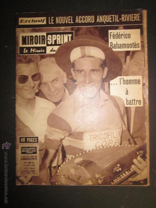 REVISTA CICLISMO - MIROIR SPRINT - FEDERICO BAHAMONTES - (V-1310) (Coleccionismo Deportivo - Revistas y Periódicos - otros Deportes)