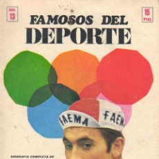 Coleccionismo deportivo: REVISTA Nº 13 DE FAMOSOS DEL DEPORTE CICLISMO BICICLETA- BIOGRAFIA COMPLETA DE EDDY MERCKX -BELGICA. Lote 45993047