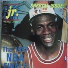 Coleccionismo deportivo: MICHAEL JORDAN - REVISTA ''TUFF STUFF JR.'' - NBA - ESPECIAL TÍTULO DE 1991 (CON TARJETAS Y PÓSTER). Lote 46084376