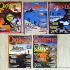 Coleccionismo deportivo: 5 REVISTAS OXÍGENO 2011-2012. Lote 46500662