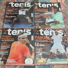 Coleccionismo deportivo: LOTE REVISTA TENIS WORLD 4 NUMEROS. Lote 46538793