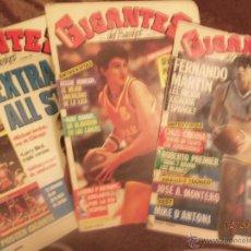 Coleccionismo deportivo: GIGANTES DEL BASKET. 3 REVISTAS AÑOS 80. Lote 46939884