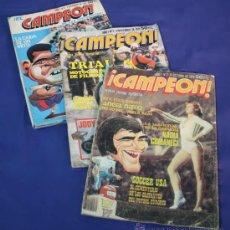 Coleccionismo deportivo: LOTE DE 3 REVISTAS VINTAGE CAMPEONES Nº 1, 4 Y 5. DEPORTES AÑO 1979. Lote 47087164