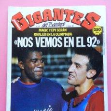Coleccionismo deportivo: REVISTA GIGANTES DEL BASKET Nº 257 1990 MAGIC JOHNSON EPI-MENEGHIN-BARÇA-ACB-NBA-POSTER TIKHONENKO. Lote 47182298