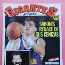 Coleccionismo deportivo: REVISTA GIGANTES DEL BASKET Nº 264 1990 PETROVIC BLAZERS NBA-SABONIS FORUM ACB-POSTER BRANSON PAMESA. Lote 47185218
