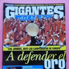 Coleccionismo deportivo: REVISTA GIGANTES DEL BASKET Nº 767 2000 PORTELA-SELECCIÓN ESPAÑOLA JUNIOR-POSTER MAGIC JOHNSON NBA. Lote 47247750