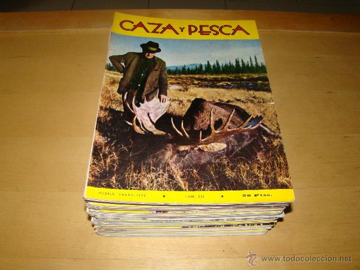 LOTE DE ANTIGUAS REVISTAS CAZA Y PESCA - AÑOS 70 (Coleccionismo Deportivo - Revistas y Periódicos - otros Deportes)
