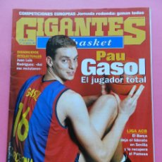 Coleccionismo deportivo: REVISTA GIGANTES DEL BASKET Nº 790 2000 PAU GASOL BARÇA ACB-NBA-PARALIMPICOS-GERMAN GABRIEL UNICAJA. Lote 47298177