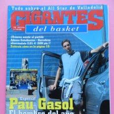 Coleccionismo deportivo: REVISTA GIGANTES DEL BASKET Nº 844 2002 PAU GASOL NBA-MICHAEL JORDAN-ALL STAR ACB-POSTER CALENDARIO. Lote 47300391